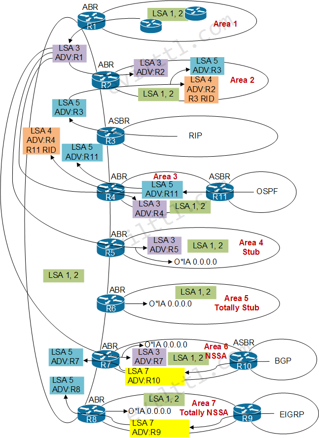 Ospf Areas And Lsa Types
